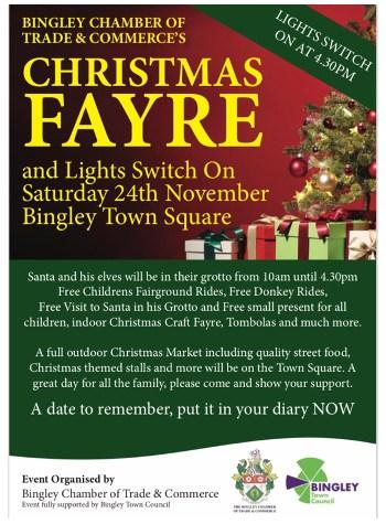 Bingley Christmas Fayre Flyer
