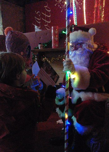 Santa in its Grotto at Bingley Xmas Fayre