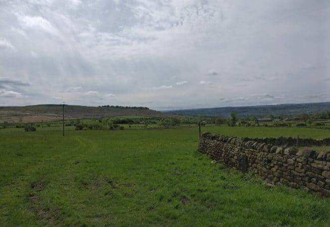 View of Baildon Moor as seen from Dales Way Link path