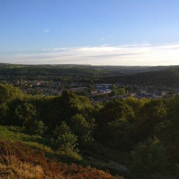 Bingley Panorama from Gilstead Craggs