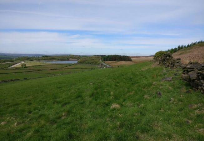 Edge of Bingley Moor with Graincliffe Reservoir