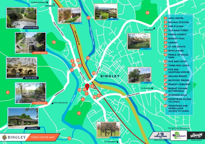 Bingley Visitor Map
