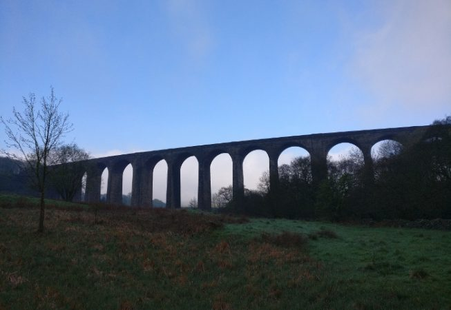 View of Hewenden Viaduct from the other site