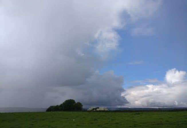 Weather in the Aire Valley can be ever changing. This storm is a good example!