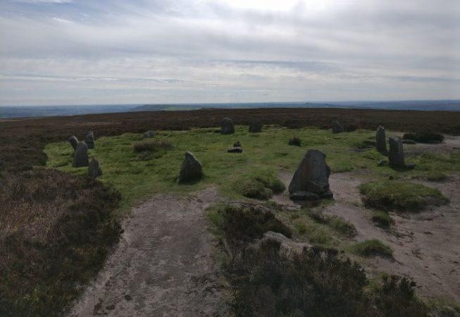 Stone Circle on Ilkley Moor known as the Twelve Apostles