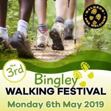 Bingley Walking Festival 2019 – Bank Holiday Monday May 6th
