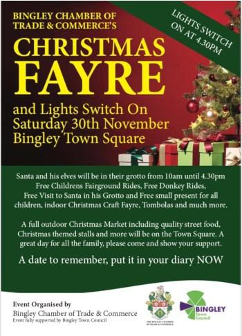 Bingley Christmas Fayre 2019 Flyer
