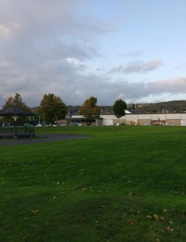 View from Myrtle Park since demolition of Bradford & Bingley Headquarters