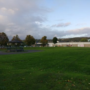 View from Myrtle Park since demolition of Bradford & Bingley Headquarters