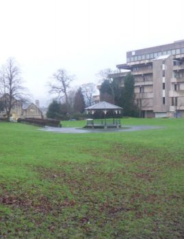 View from Myrtle Park before demolition of Bradford & Bingley Headquarters