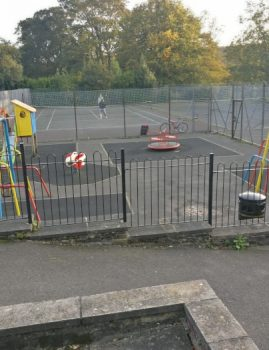 Tennis Court, Playground & Basketball in Myrtle Park
