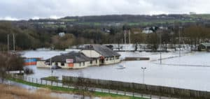 Bingley Rugby Club Flooded in February 2020
