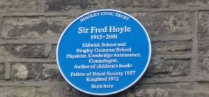 Sir Fred Hoyle Blue Plaque in Gilstead