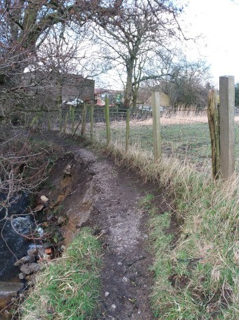 Glovershaw Beck Path after 2020 floods