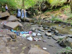 Goitstock Waterfall Trashed