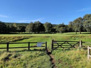 Path crossing Shipley Golf Course, Bingley