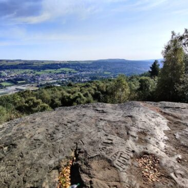 View from Druid's Altar in Bingley St Ives Estate