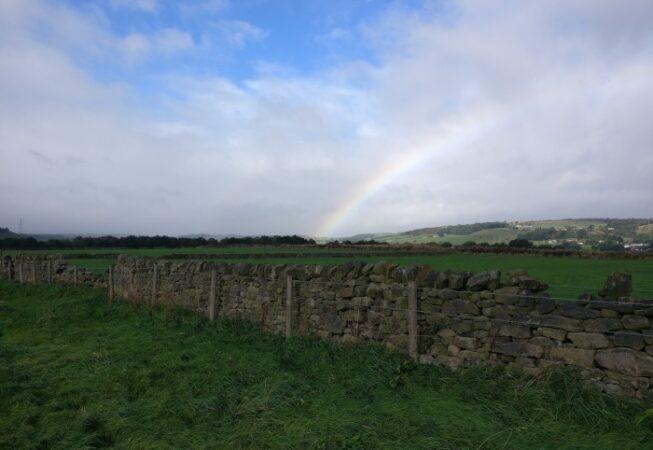 Lovely rainbow near Lee Lane, Wilsden