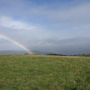 Rainbow on top of Norr Hill
