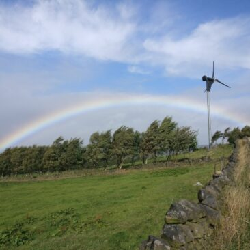 Windmill and Rainbow on Norr Hill